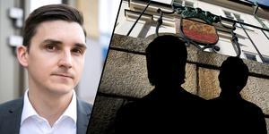 Fotomontage: Lars Dafgård/Mikael Hellsten. Åklagare Kristofer Magnusson begär mer tid för åtalet om löneskandalen i Falun.