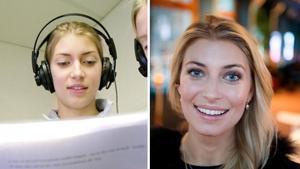Då: Cecilia Forss är en av högstadieeleverna  som gör radioteater för Utbildningsradions Radioskrivarklubb iDalarna 2000. Foto: Kjell JanssonNu: Inför rollen i dramaserien
