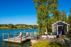 Mysiga bilder lockar intresserade till huset med sjötomt intill Norra Lången. Foto: Ove Lundkvist