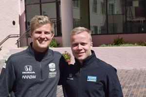 Marcus Ericsson och Felix Rosenqvist var båda nykomlingar i Indycar i år, och bodde dessutom i samma hus i centrala Indianapolis. 2020 kan de dessutom bli teamkompisar, enligt nya uppgifter. Foto: Anton Johansson/TT