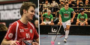Till vänster, mångårige Örebro Innebandy-spelaren Marcus Ekengren. Till höger, Max Norstedt, lagkapten i Lillån.