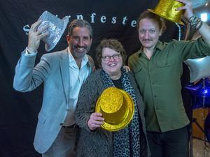 Rickard Sundbom, Susanne Bergström och Leo Skytt i juryn. Foto: Christofer Martinson/Södertälje kommun