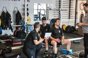 Mathias Bromé och Jonathan Andersson tränar med laget för första gången efter att ha varit iväg med landslaget och sedan fått vila.