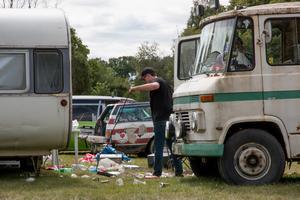 Bilarna på Mälarcampingen var nästan 400 fler än förra året.