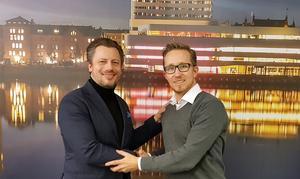 Nalta medias säljare i Sundsvall Tommie Larsson och vd Johan Lindh. Bild: Pressbild