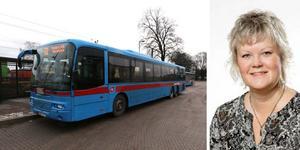 - Tjänstemännen i Hallsberg, Kumla, Laxå liksom Lindesberg och Ljusnarsberg säger att vi ska piroritera järnvägen när det finns parallella busslinjer så därför föreslår vi borttagning av vissa bussträckor, säger Nina Höijer (S), ordförande i samhällsbyggnadsnämnden Region Örebro län.