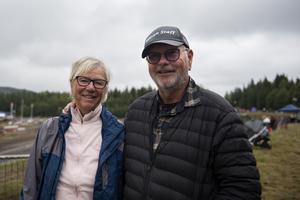 Maggie och Roger Pettersson från Stubbsand var på folkrace för allra första gången och uppskattade stämningen på Klingre motorstadion.