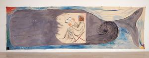 Job i Leviatans mage. Målning av Michael Sgan-Cohen från 1983.