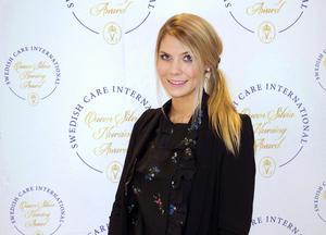 Rebecca Eriksson från Leksand har tilldelats Queen Silvia Nursing Award. (Foto: SCI)