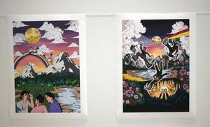Hannes Olofsson gör bilder i serietidningsestetikens anda.