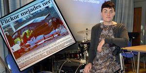 Matilda Thuresson fick en hjärnskada i trafikolyckan. Hennes kompis dog. Artikelklippet är från Falu Kuriren dagen efter olyckan i mars 2000.