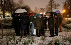 Ett 20-tal örebroare i sällskapet Herrarnas lilla julafton hedrade Torsten Ehrenmark på måndagskvällen.
