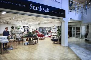 I Cupolen mittemot Myrorna och Fanny har inredning- och presentbutiken Smaksak nyöppnat.