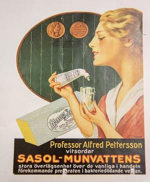 En gammal reklamannons för Sasols munvatten.