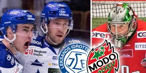 Linus Persson saknas återigen i LIF och Erik Hanses får chansen i Modo. Foto: Jonas Forsberg/Bildbyrån.