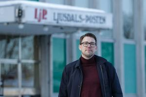 Ljusdals-Posten chefredaktör Christian Höijer gläds åt ett positivt slut på året då tidningen ökade sina prenumeranter.
