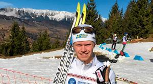 Filip Danielsson senast han körde i svenska landslagsdressen, i junior-VM 2016.