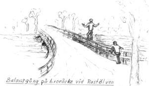 Det fanns gott om våghalsiga infall på skolrasterna. Illustration: Arne E Erikson