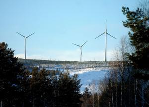 Strax väster om Överturingen finns redan en större vindkraftpark väl synlig från bland annat Handsjöbyn.