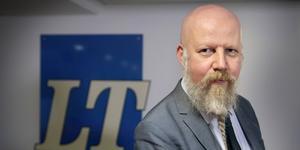 """Daniel Nordström är chefredaktör för LT Södertälje. """"Ett bra tillskott"""", säger han om det ekonomiska stödet."""