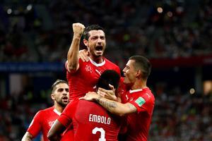 Schweiz står för motståndet i Sveriges åttondelsfinal. Bild: Bildbyrån
