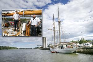 Under fredagen seglade HMS Falken in i Söderhamn och la till vid Stugsundskajen.