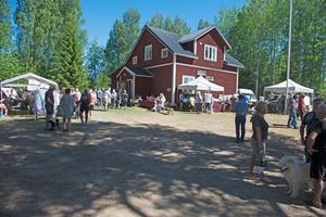 Enligt arrangörerna  var det ovanligt många besökare på årets marknad i Djupröra.