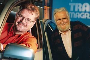 Trafikmagasinet leddes av Carl-Ingemar Perstad och Christer Glenning.  Foto: Privat/SVT