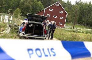 På fredagen greps Tony fd Olsson på en höskulle väster om Grindsjö. Foto Claus Gertsen