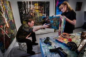 Rebecka Eriksson och James Bates gemensamma konstprojekt visas på Galleri Örsta senare i höst. Foto: Jonas Classon