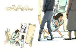 Mirjam och Mose. Illustration av Marcus-Gunnar Petterssons i  nya
