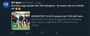 VLT har tidigare berättat om Nyköpings intresse för Sporrong.
