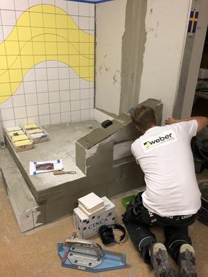 Stort fokus har legat på att träna inför den stora tävlingen i Ryssland. Filip Sandgren har en lokal på Hälla som han nästintill bott i under den senaste tiden. Foto: Privat.