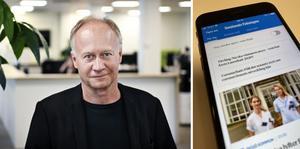 Johan Hedberg, chefredaktör och ansvarig utgivare.