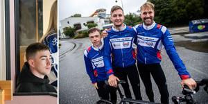 Jonas Forsberg, Andreas Hauge Sjöstrand och Per Sandberg cyklar 125 mil från Oskarshamn till Skellefteå för att se SHL-premiären. Under #cyklafortobbe samlar de in pengar till Tobias Forsbergs stiftelse.