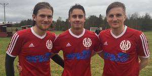 Henrik Schwartz, Magnus Engström-Liljemark och Niclas Schwartz gjorde Hedes mål i matchen mot Ragunda.