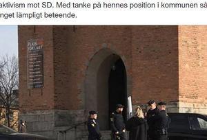 SD Borlänge la ut en bild på Angelica Andersson på Facebook.