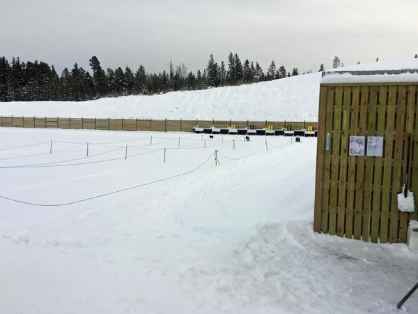 Skjutvallen på Skidstadion i Sveg