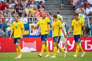 Sverige föll med 0–2 mot England i kvartsfinalen.