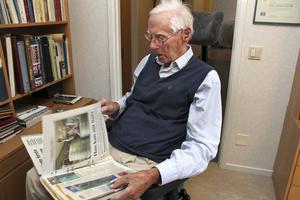 Sven Norling inför 100-årsdagen i september  2013. Han gick bort i januari 2014.