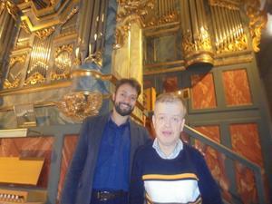 Känner mig hedrad att fåposera på bild med en duktig organist Marco Fonseca