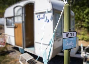 Sally, som husvagnen heter, byggdes 1968, men är fortfarande fullt fungerande.Foto: Stefan Jerrevång / TT
