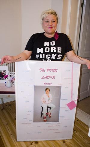 Ett minne från Pink Ladies tiden.