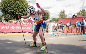 Sprint är Jackline Lockners specialitet. Hon är nöjd över silvret på sprinten i VM. Foto: Martins Niklass