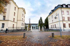 Lars Torsten Eriksson introducerar nya Gävlebor som arbetar och studerar vid Högskolan i Gävle till lokalhistorien kring de före detta regementsbyggnaderna.
