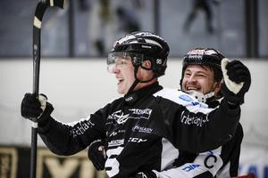 Sandvikens fruktade anfallsduo Erik Pettersson och Christoffer Edlund.