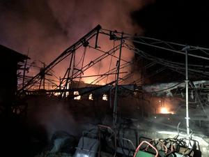 Det är ännu oklart vad som orsakat branden. Foto: Räddningstjänsten Orsa