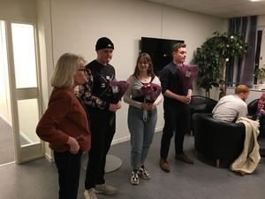 Sebastian, Elin och Palle, nominerade till Kulturpriset.