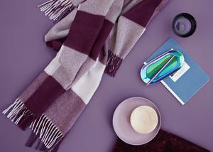 Ultra violet har utsetts till årets färg och väntas göra intåg i våra hem.Foto: Elvang