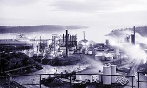 Raffinaderiet någon gång under 1950-talet. Foto: Nynas arkiv